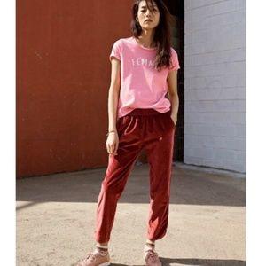 Madewell 'Femme' 100% Cotton Pink Cotton T-Shirt
